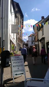 Hay on Wye is known for its picturesque narrow streets