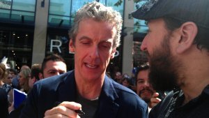 Where are you from? Poland and Malta? Malta is a beautiful country! Mr Capaldi signing picture for us