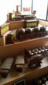 Musical instruments on display