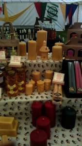 Bee-wax candles and  creams