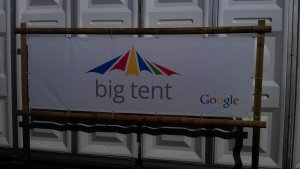 Google and its big tent, sadly it was the last year Google was present at Hay