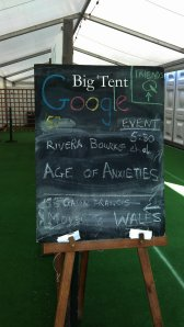 Some of the events happening in Google tent