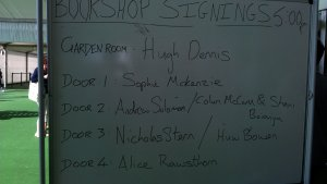 Bookshop signing list and authors meet and greet  schedules