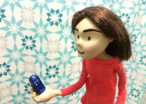 Clara and the Mini TARDIS