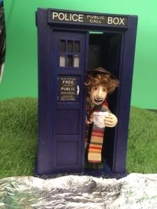 The Fourth Doctor on the set - Anybody wants a jelly baby?