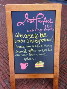 Just Perfect Ltd - Catering and Events are responsible for cafe inside the Doctor Who Experience. Very good food. You can visit them at: http://www.justperfectcatering.co.uk/index.html