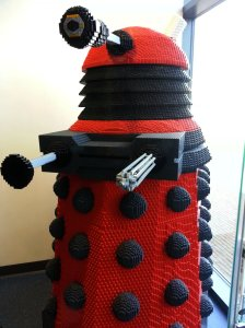 Real life size Dalek constructed from Lego bricks