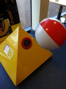 Real science to entertain the kids. Do you know what makes the beach ball fly?