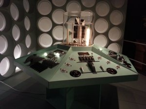 TARDIS in flight as the time rotor is on