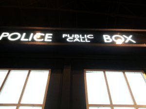 Police Box sign is flashing  - the machine is ready for take off