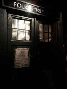 The Madman and his blue box - TARDIS on display