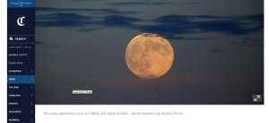 Chicago Tribune - Supermoon in Malta 9th of September 2014