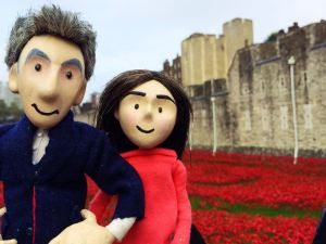 Clara and The Doctor  during their visit to the Tower, please understand the UNIT didn't allow any more pictures.