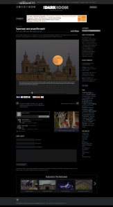 Darkroom at The Baltimore Sun  - Supermoon seen around the world 10th of August 2014
