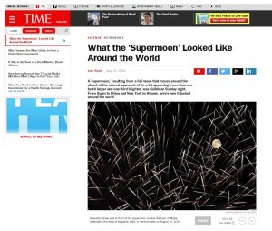 The Time Magazine 11th of August 2014