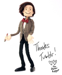 And Matt Smith as 11th Doctor Puppet