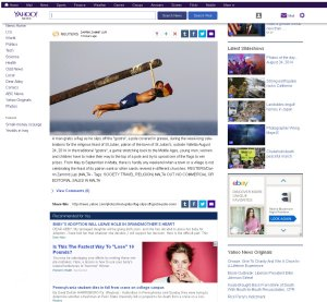 Yahoo International News on 25th of August 2014