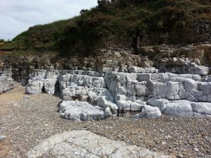 This is not Broadchurch - the coastal rocks at Ogmore are as impressive as those in Dorset