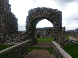 This arch is the  only fragment remaining today from the original two story gatehouse