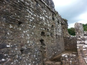Ogmore Castle had  long and thick walls protecting the castle against the Welshmen