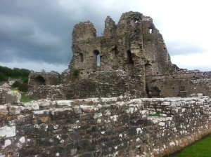 Ogmore Castle photographed from the entrance