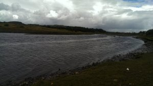 River Ogmore estuary - the currents are dangerously strong, be careful when crossing!