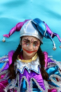 Popular costume motive - Colombina of  Commedia dell'Arte