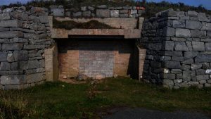 Old bunkers from The Cold War era are not longer used by the military and their entrances have been bricked up.