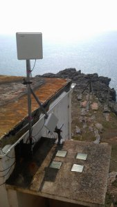 Old navigation station is actually still operational and is being used to monitor the weather conditions alongside the Pembroke coast