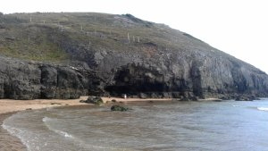 Broadhaven South is known from the dramatic coastline filled with limestone cliffs and caves