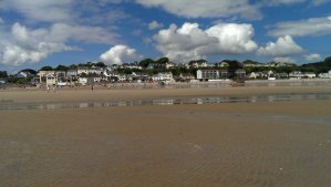 Village as seen from the beach at the low tide - you can go for a mile before you reach the water