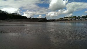 Main beach in Saundersfoot