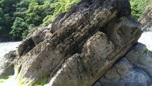 Limestone near the cave