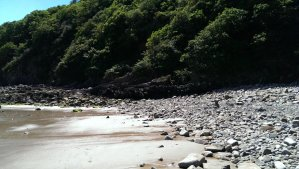Southern part of Saundersfoot beach
