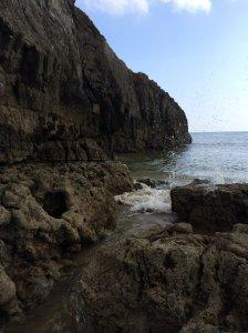 The Coastal riff near the edge of Broadhaven beach