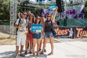 Festival goers showed their support for Going Green campaign