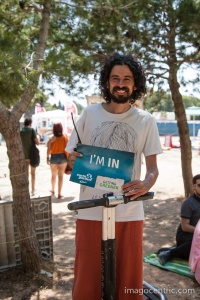 Reuben Spiteri - thr main man behind the festival posed for the picture on Segway