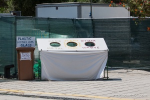 The right bin for everthing, all recyclable materials were carefully selected
