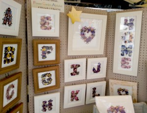 Flowery alphabet was very popular with buyers.