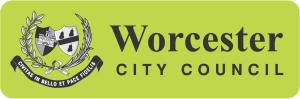 "Worcester City Council logo - ""Civitas in bello et pace fidelis"". A faithfull city - in peace and in war"