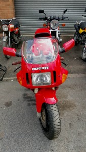 Ducati Desmoquattro seen from the front