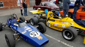 A pair of Lola cars