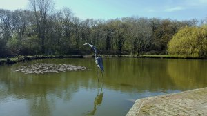 Heron sculpture