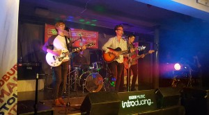 Worcester most loved band -The Fidgets play during their BBC Introducing session
